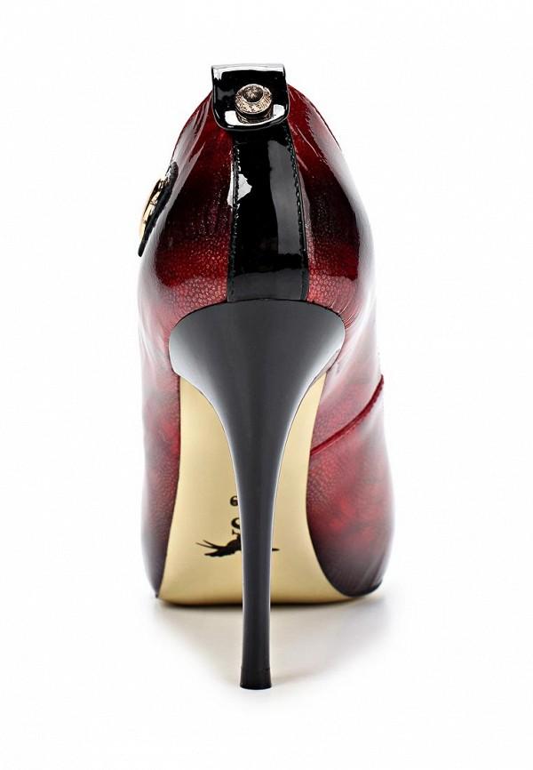 фото Туфли на шпильке и платформе Sinta SI293AWBDE22, красные кожаные
