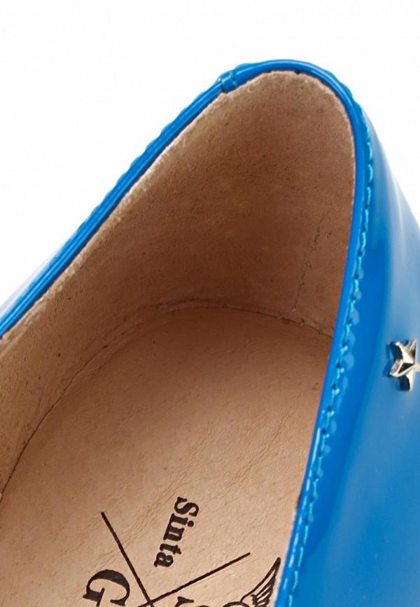 фото Лоферы женские Sinta SI293AWBDE54, голубые лакированные