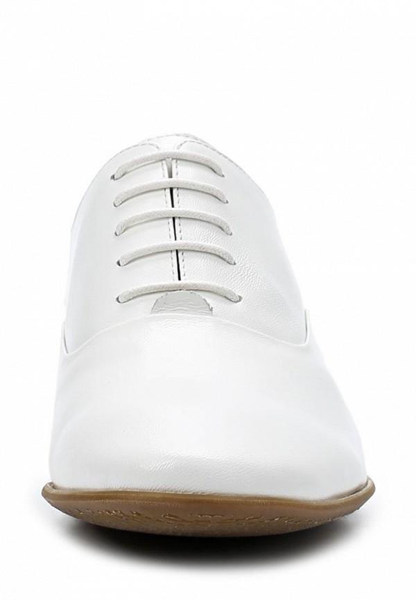 фото Полуботинки женские Sinta SI293AWBDF72, белые кожаные