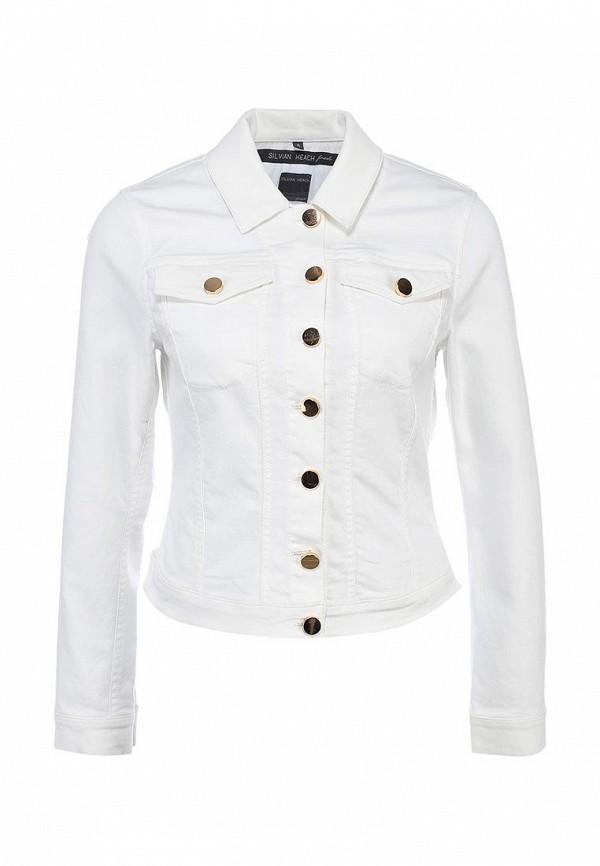 Куртка джинсовая Silvian Heach SI386EWBLO99. Цвет: белый