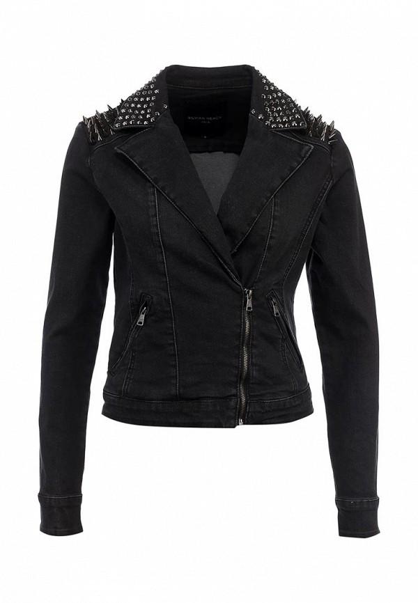 Куртка джинсовая Silvian Heach SI386EWLF928. Цвет: черный