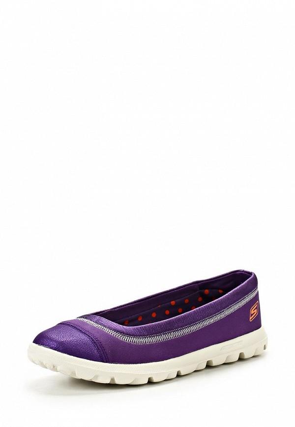 фото Слипоны женские Skechers SK261AWLU715, фиолетовые