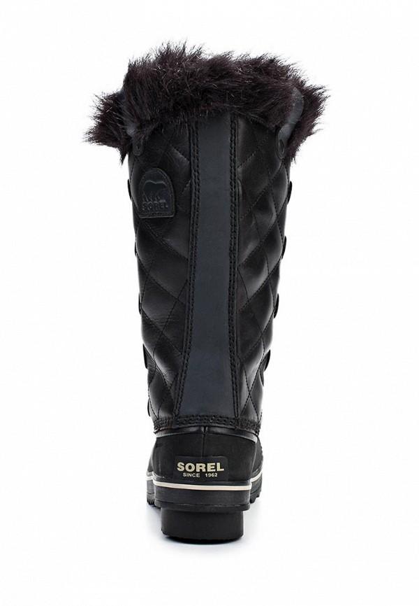 фото Сапоги женские на шнуровке Sorel SO490AWKM050, черные