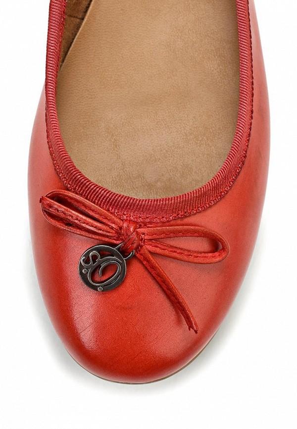 фото Балетки на каблуке s.Oliver SO917AWALQ72, красные лаковые (кожа)