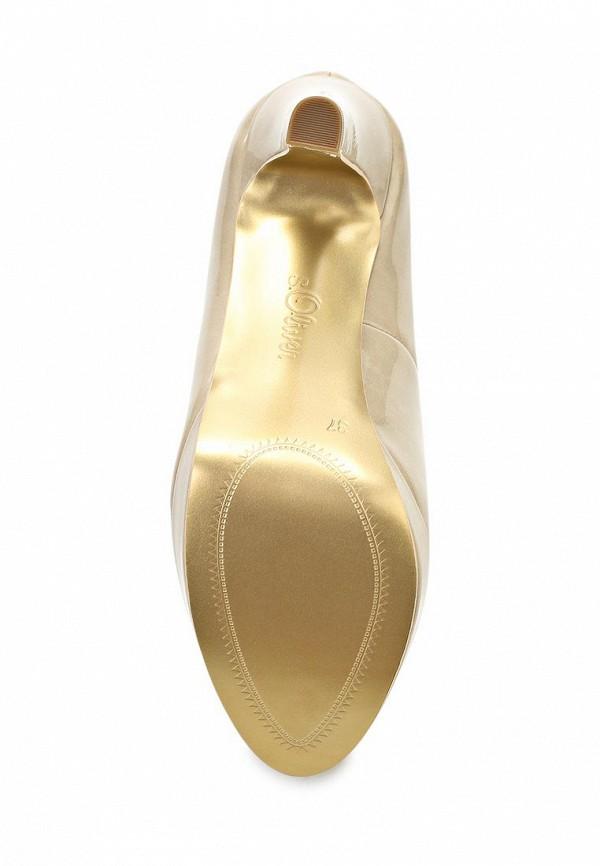 фото Туфли на платформе и каблуке s.Oliver SO917AWALQ78, бежевые лаковые