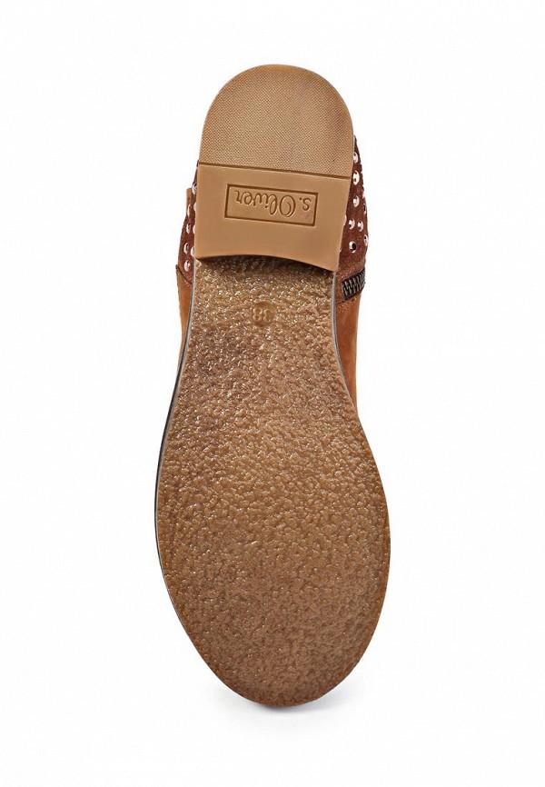 фото Женские полусапожки на каблуке s.Oliver SO917AWJV538, коричневые