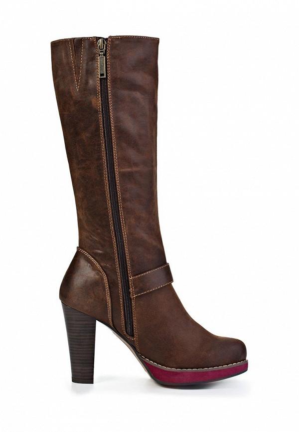 фото Сапоги женские на высоком каблуке s.Oliver SO917AWJV540, коричневые