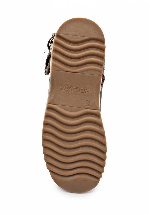 фото Женские полусапожки без каблука s.Oliver SO917AWJV543, коричневые
