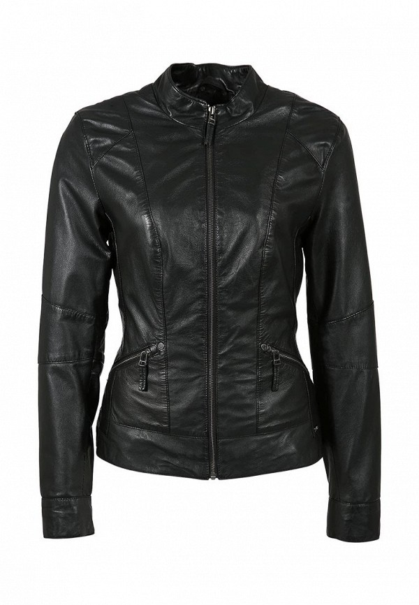 Куртка кожаная s.Oliver SO917EWAGW67. Цвет: черный