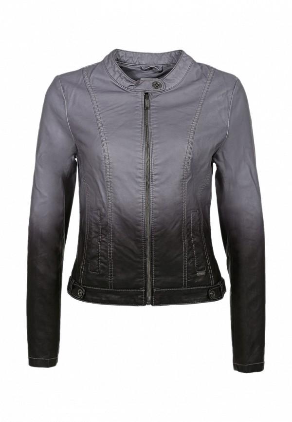 Куртка кожаная s.Oliver SO917EWBNY33. Цвет: серый