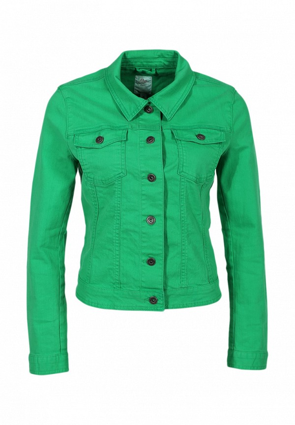 Куртка джинсовая s.Oliver SO917EWBRJ91. Цвет: зеленый