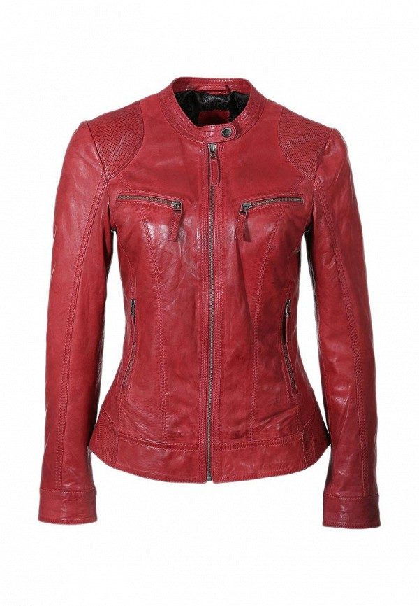 Куртка кожаная s.Oliver SO917EWHW326. Цвет: красный