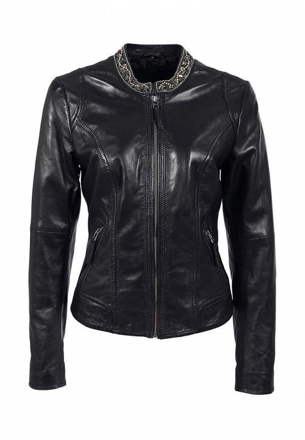 Куртка кожаная s.Oliver SO917EWKP012. Цвет: черный