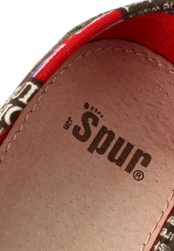 фото Слипоны женские Spur SP169AWAUA12, зеленые