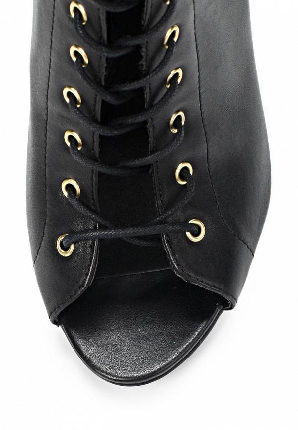 фото Ботильоны на каблуке Steve Madden ST170AWBUC67, черные на шнуровке