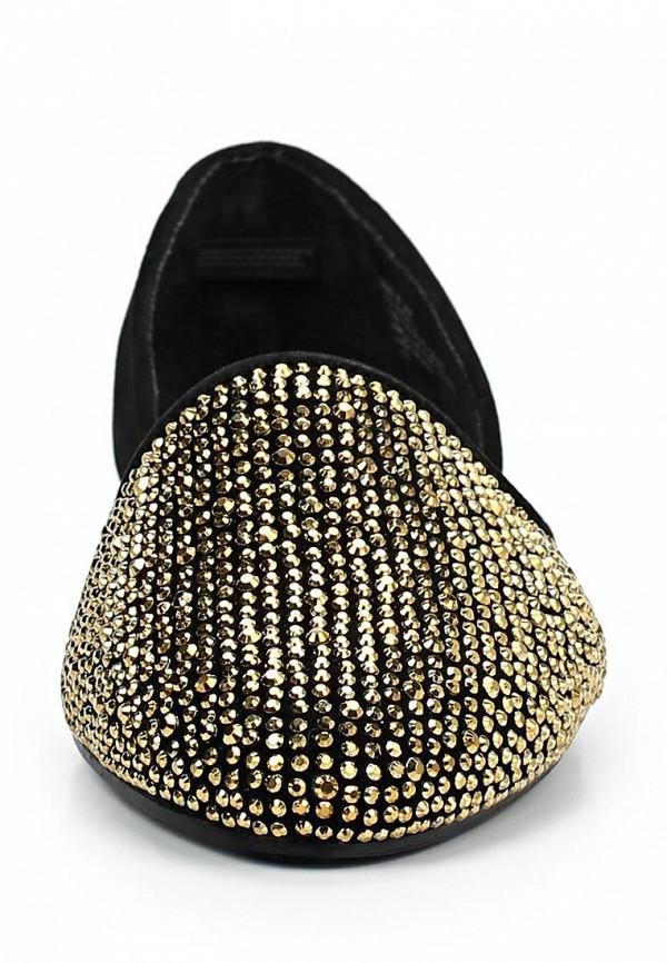 фото Балетки женские Steve Madden ST170AWBUC86, черные с золотым