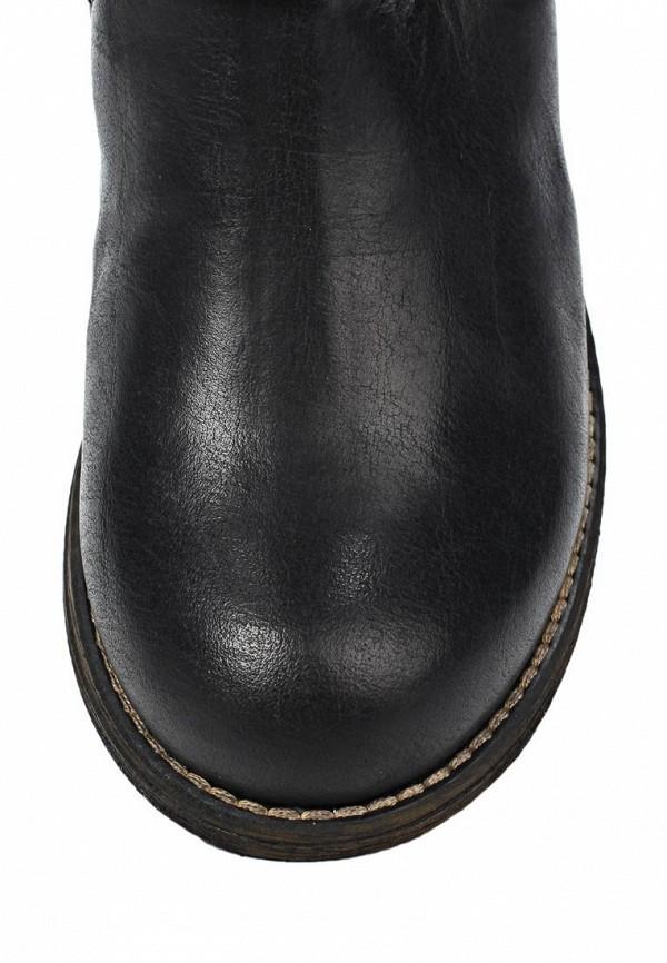 фото Женские сапоги-ботфорты Steve Madden ST170AWKL077, черные кожаные