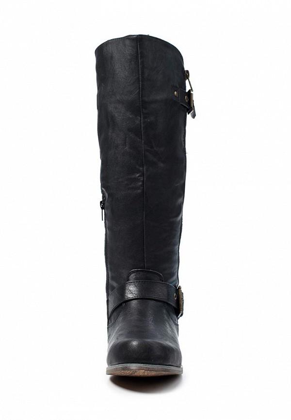 фото Сапоги женские на молнии Steve Madden ST170AWLF888, черные (кожа)
