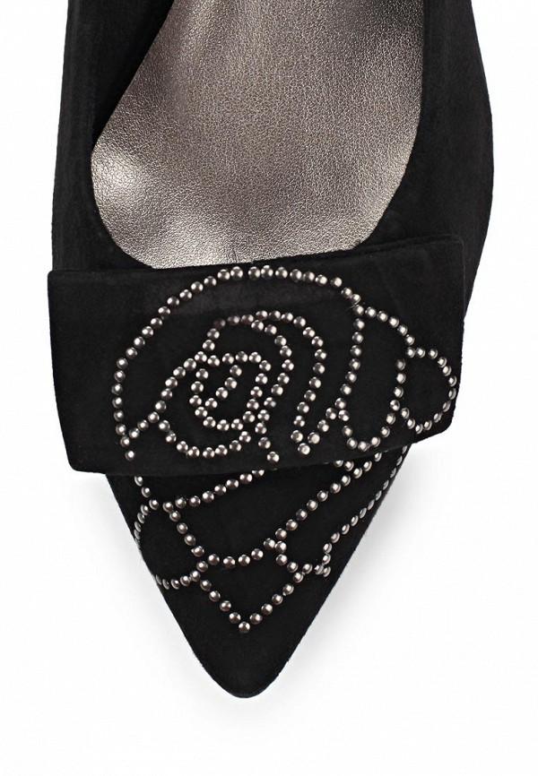 фото Туфли на низком каблуке Tamaris TA171AWACD72, черные замшевые