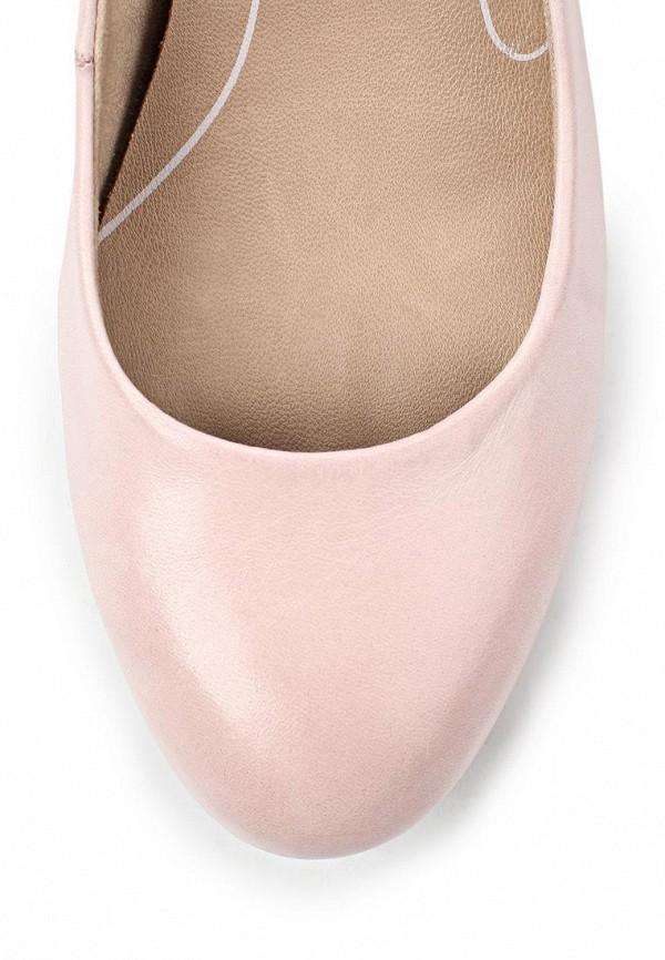 фото Туфли на платформе и каблуке Tamaris TA171AWACD78, розовые кожаные