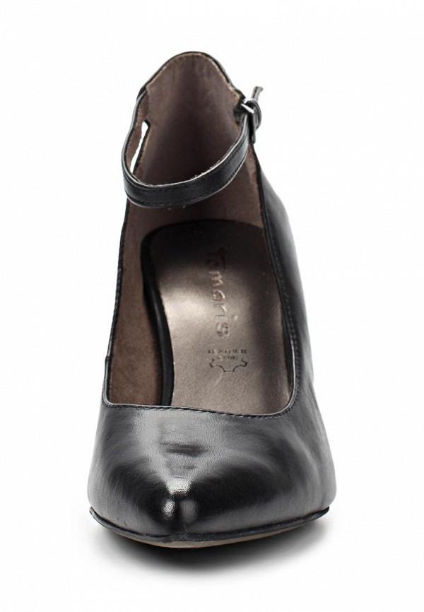 фото Туфли на на низком каблуке Tamaris TA171AWACE29, черные кожаные