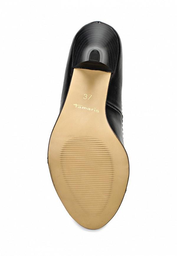 фото Туфли на среднем каблуке Tamaris TA171AWACE41, черные кожаные