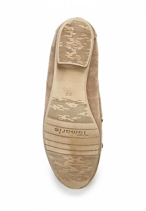 фото Топсайдеры женские Tamaris TA171AWACG36, коричневые/каблук