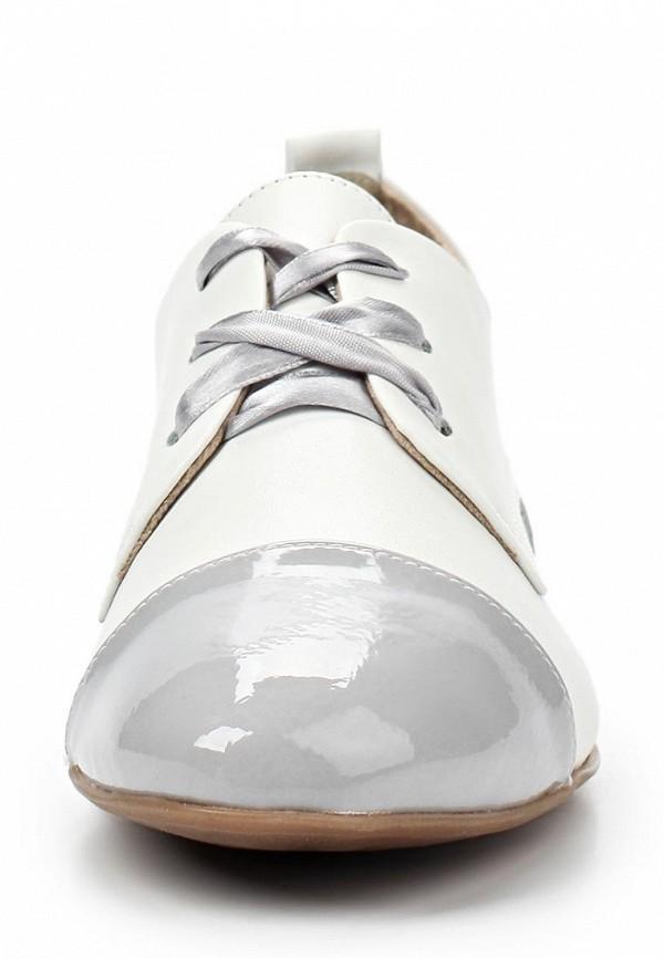 фото Полуботинки женские на каблуке Tamaris TA171AWACG86, белые с серым