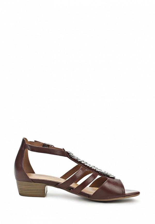 фото Босоножки женские на низком каблуке Tamaris TA171AWBNF23, коричневые