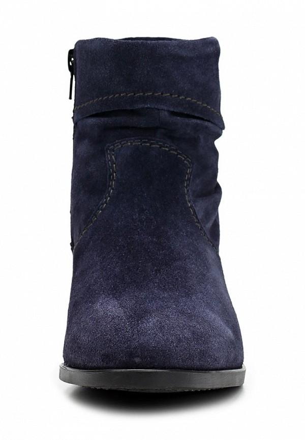 фото Женские полусапожки на низком каблуке Tamaris TA171AWCKM49, синие