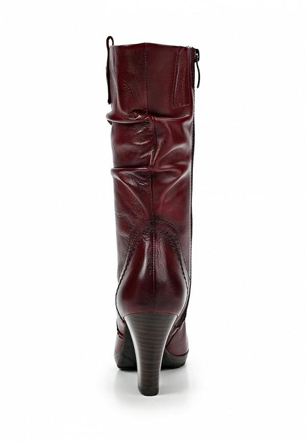 фото Сапоги женские на толстом каблуке Tamaris TA171AWCKM81, бордовые (кожа)