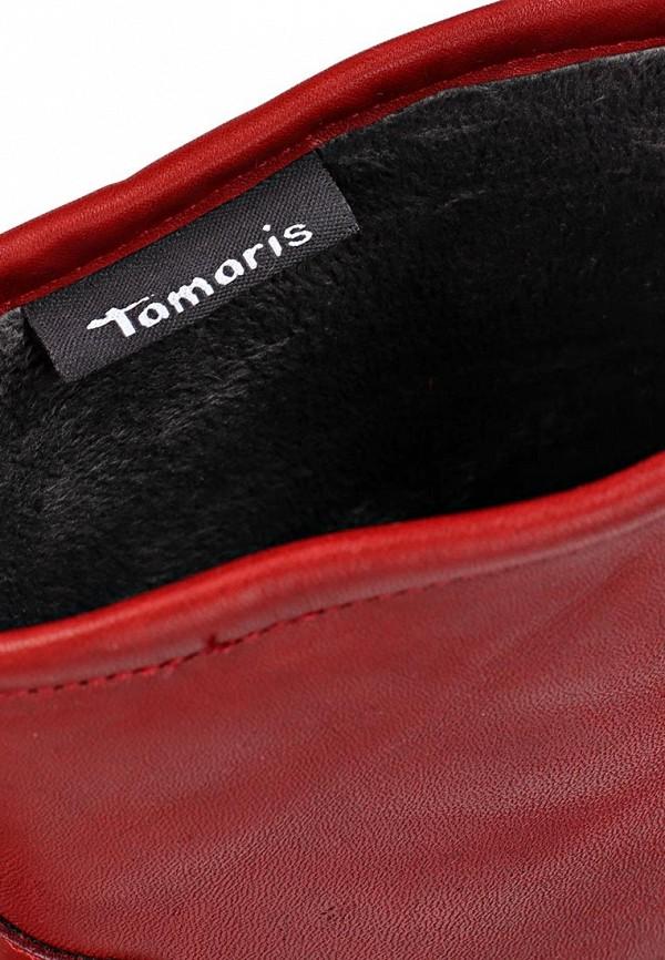 фото Женские полусапожки на низком каблуке Tamaris TA171AWCKN15, красные