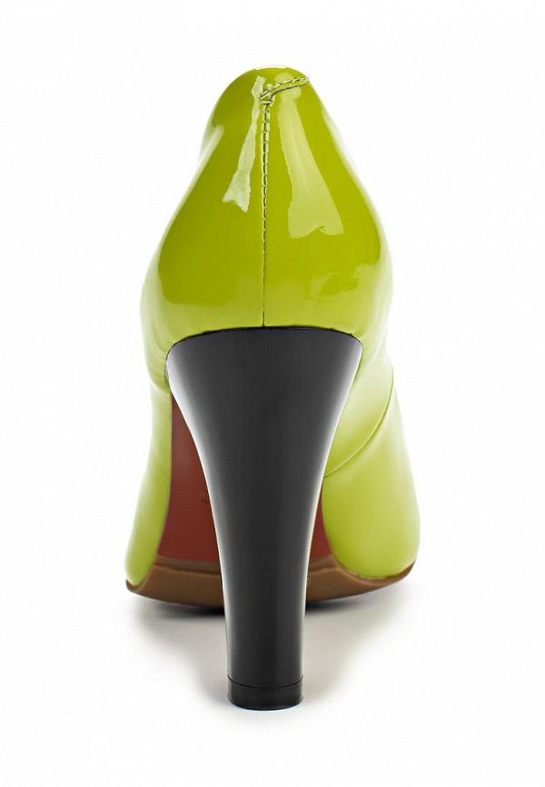 фото Туфли на толстом каблуке Tacco TA432AWBMJ13, зеленые из лаковой кожи