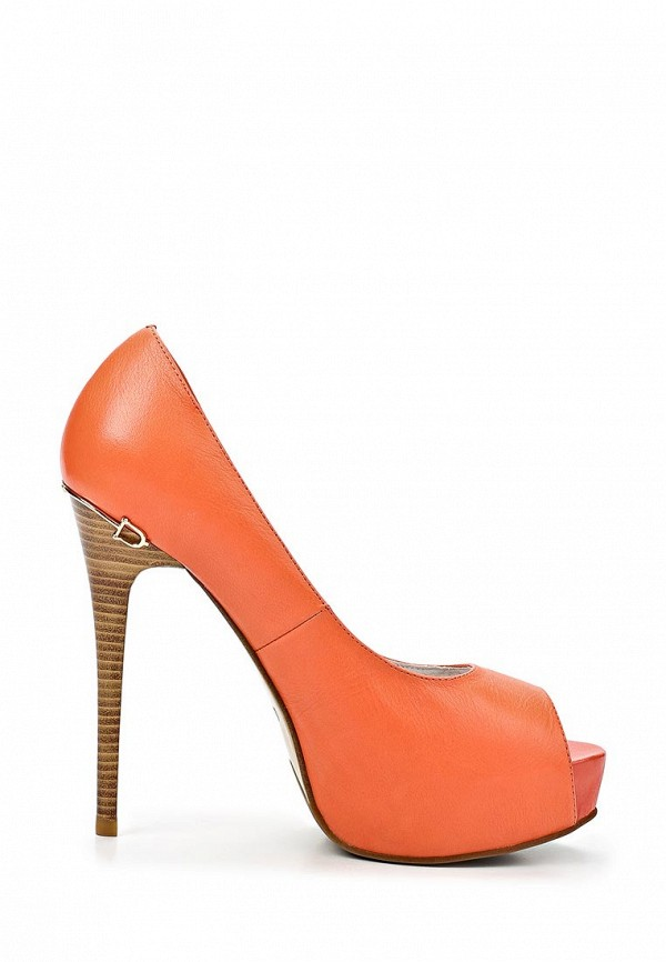 фото Туфли на платформе и каблуке-шпильке Tacco TA432AWBSS84, оранжевые
