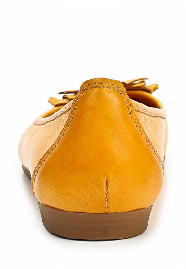 фото Балетки женские Tacco TA432AWBTN25, желтые кожаные