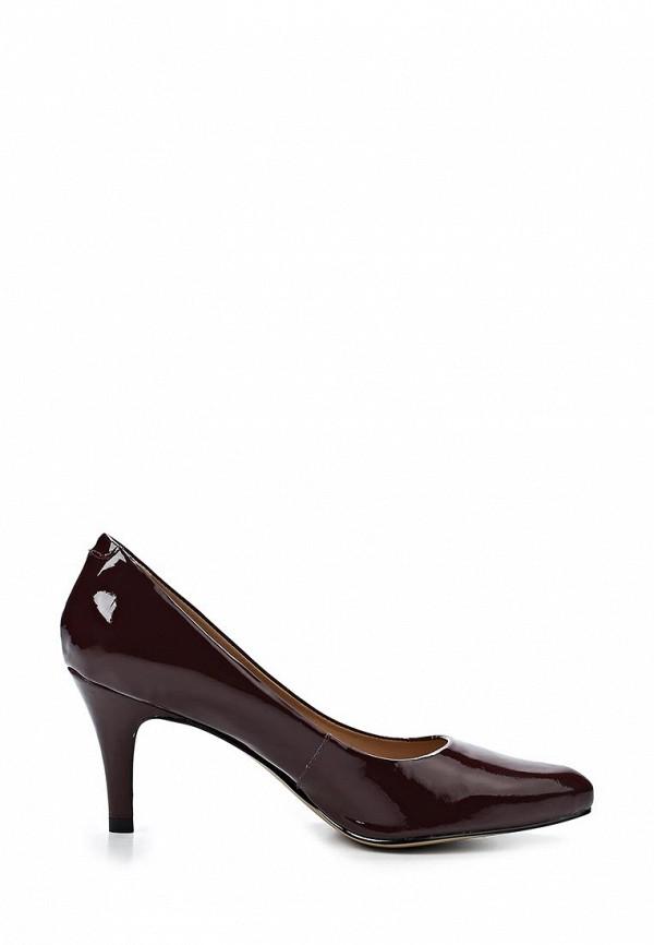 фото Женские лаковые туфли на каблуке Tervolina TE007AWAQI05, коричневые (кожа)