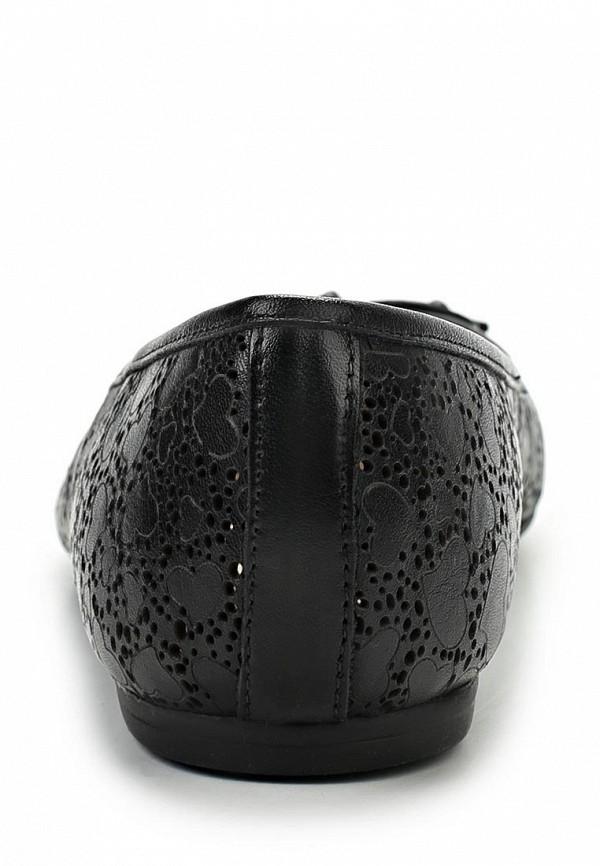 фото Балетки женские Tervolina TE007AWAQI10, черные кожаные