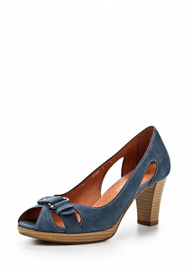 фото Туфли на каблуке Tervolina TE007AWAQI62, синие с открытым носом