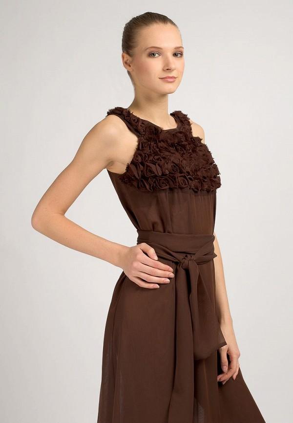 Платье TG. Цвет: коричневый