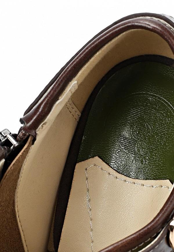 фото Ботильоны на толстом каблуке Thanks4Life TH930AWBFC78, хаки/платформа