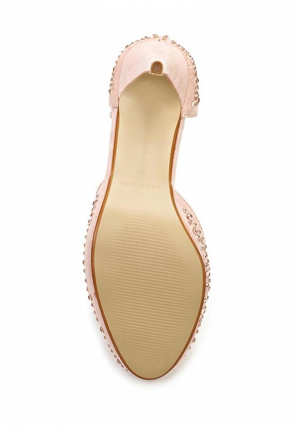 фото Женские туфли на каблуке Timeless TI990AWASJ06, бежевые со стразами