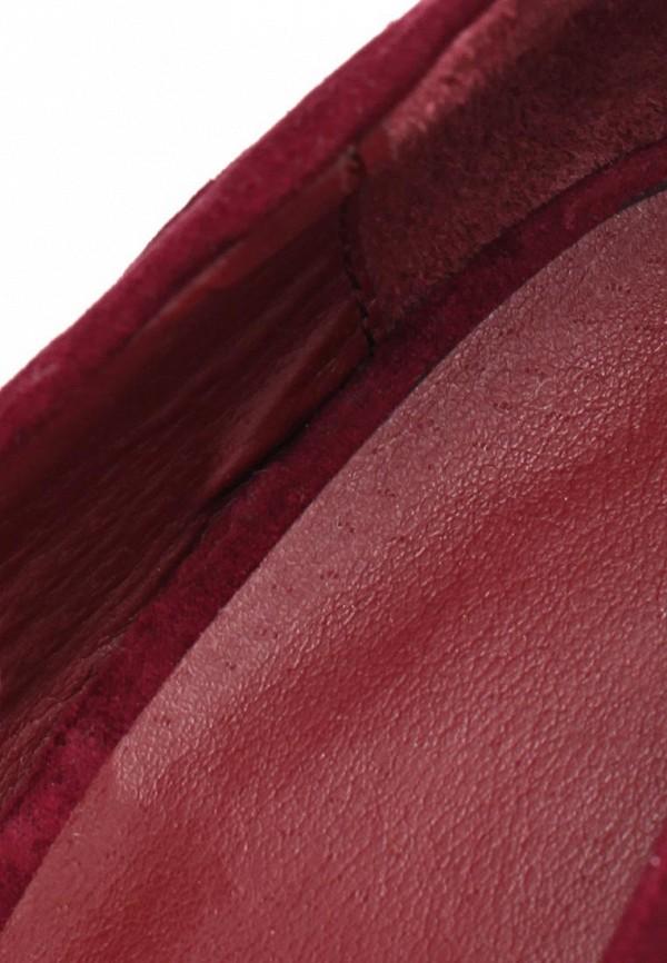 фото Туфли на платформе и каблуке Timeless TI990AWASJ18, бордовые (замша)