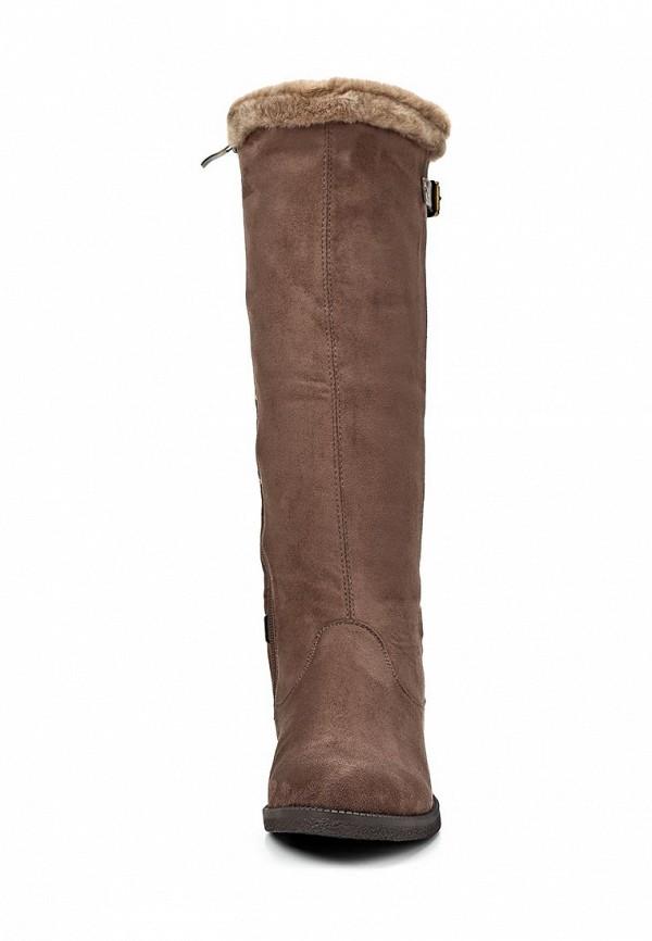 фото Сапоги женские на плоской подошве ТОФА TO012AWCLE17, коричневые