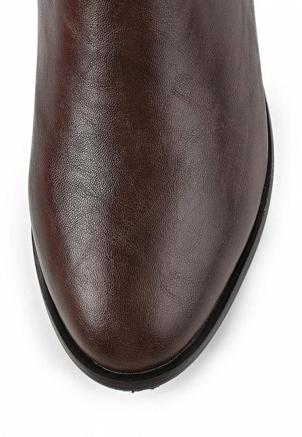 фото Сапоги женские без каблука ТОФА TO012AWCLE19, коричневые (кожа)
