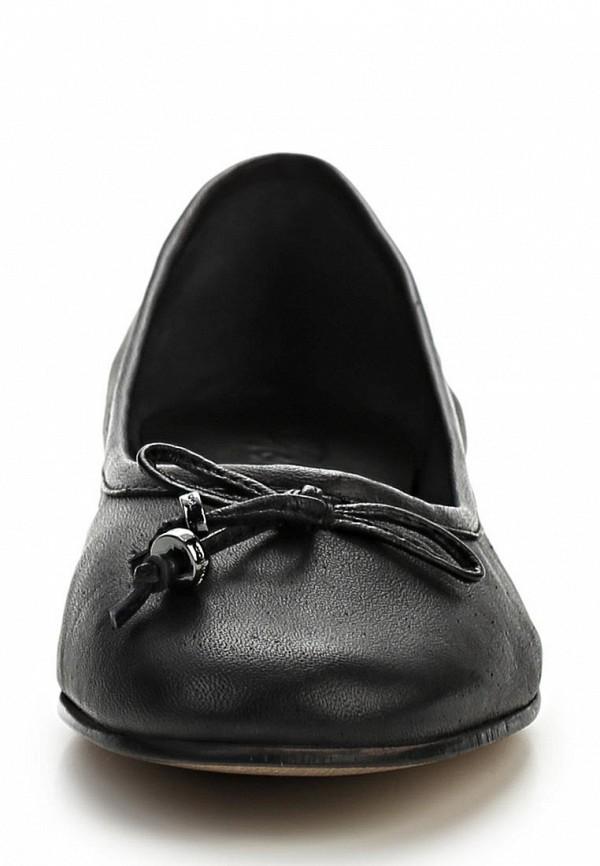 фото Балетки женские Tom Tailor TO172AWBDX83, черные кожаные