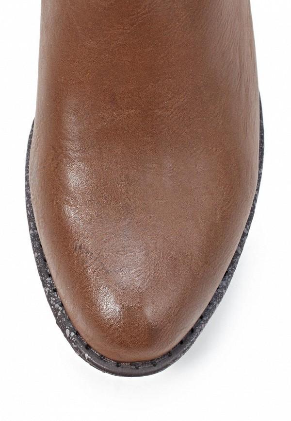 фото Женские полусапожки на каблуке Tom Tailor TO172AWKH185, коричневые
