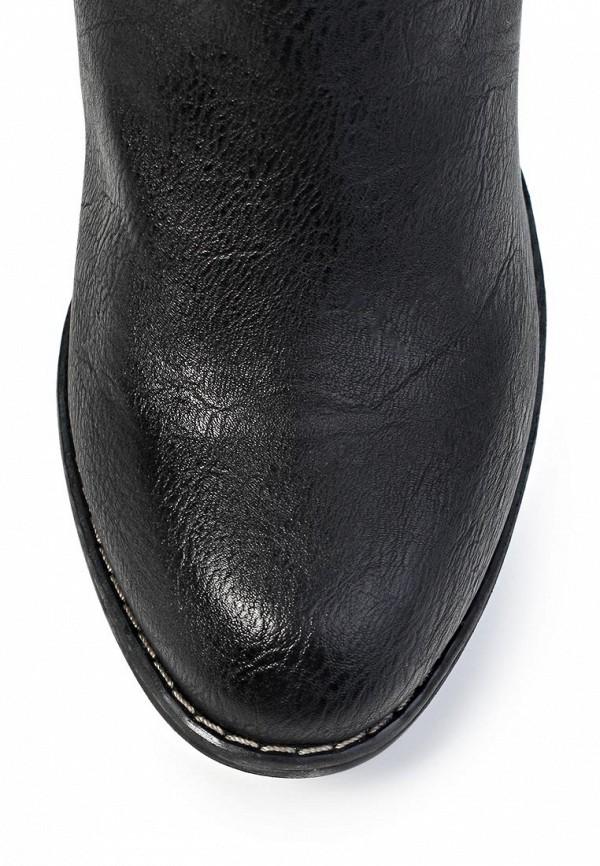 фото Ботильоны на толстом каблуке Tom Tailor TO172AWKH197, черного цвета