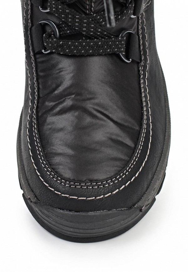 фото Сапоги женские на шнуровке Tom Tailor TO172AWKH205, черные