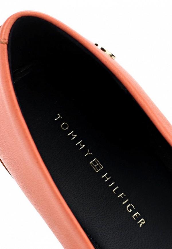 фото Балетки женские Tommy Hilfiger TO263AWAVI32, коралловые кожаные