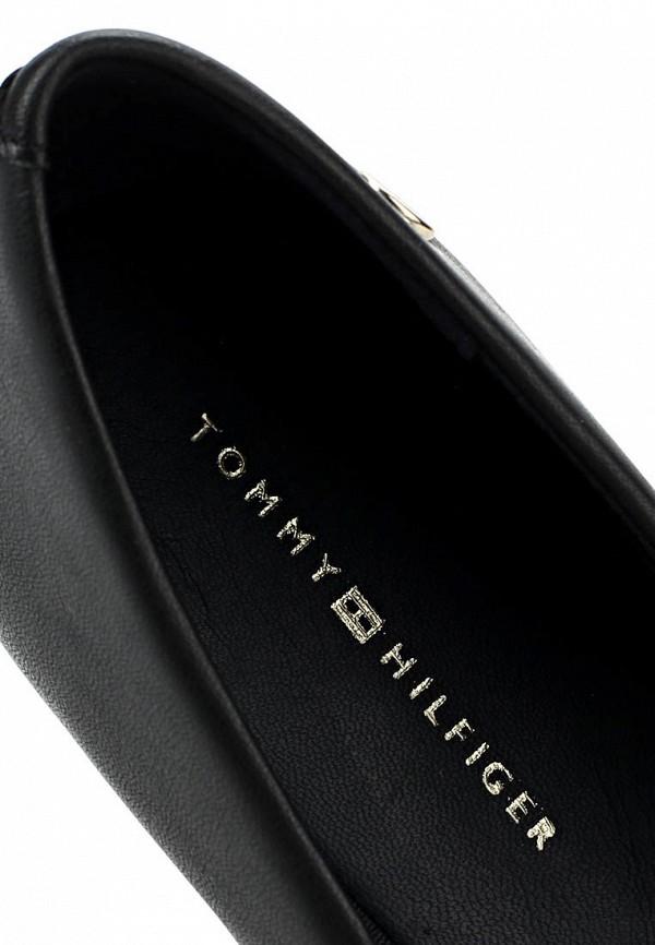 фото Балетки женские Tommy Hilfiger TO263AWAVI34, черные кожаные